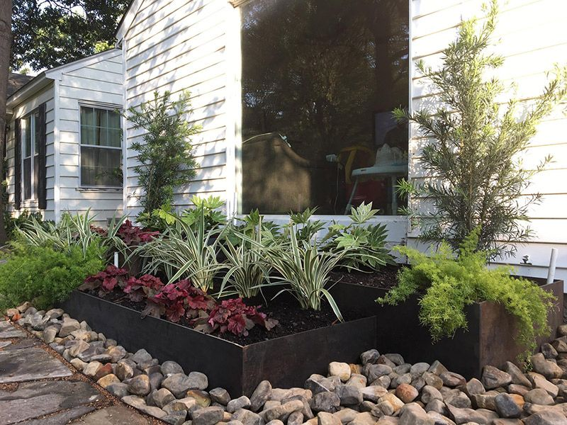 Custom Metal Planter Box Dallas 7