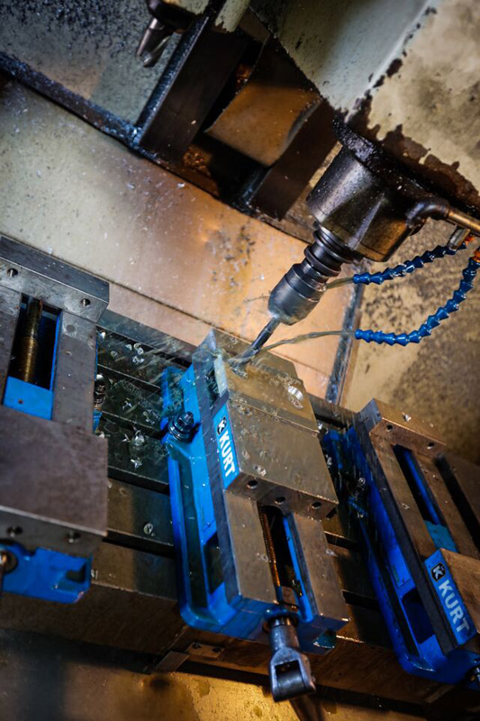 CNC and manual mills allow us to quickly build prototypes or setup for efficient manufacturing runs