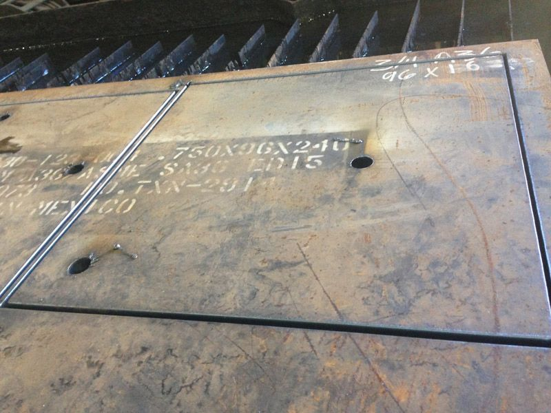 Baldwin Metals custom steel structural base plates