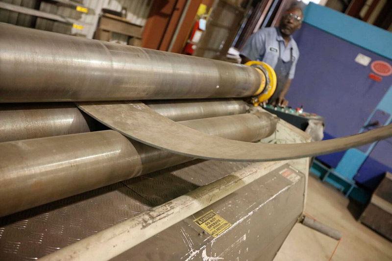 Our wide range of rolling services allows us to roll both thin gauge and heavy plate metal