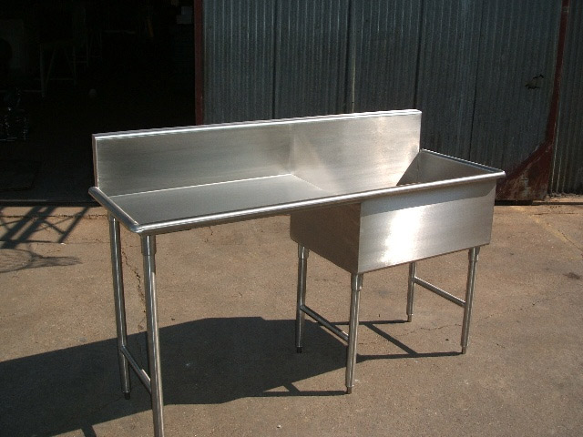 Stainless steel counter tops sinks work benches