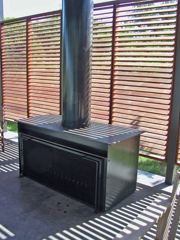 Stainless steel metal fabrication fireplace