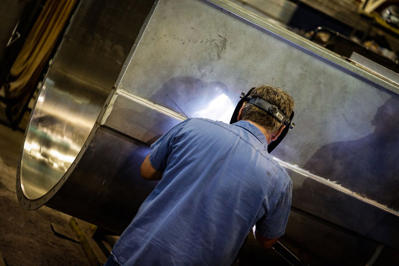 Our talented team of welders regularly welds vessels, tanks, large fabrications and other sheet metal projects